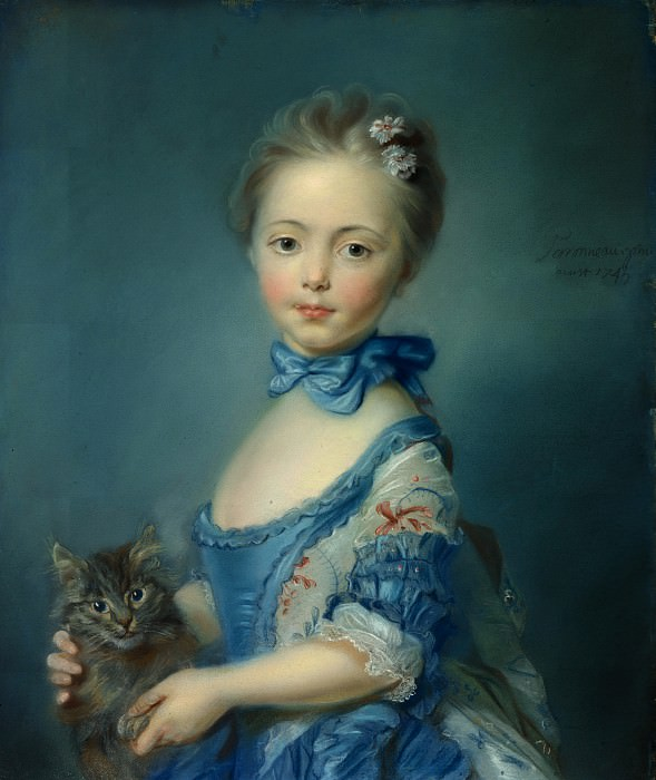 Jean-Baptiste Perronneau - A Girl with a Kitten. Part 4 National Gallery UK