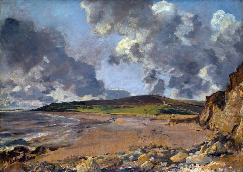 John Constable - Weymouth Bay - Bowleaze Cove and Jordon Hill. Part 4 National Gallery UK