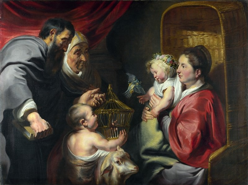 Jacob Jordaens - The Virgin and Child with Saint John and his Parents. Part 4 National Gallery UK