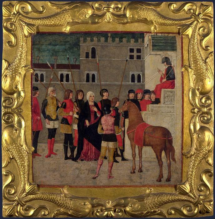 Веронский мастер, 1475-00 - Панель кассоне История Траяна - Правосудие Траяна. Часть 4 Национальная галерея