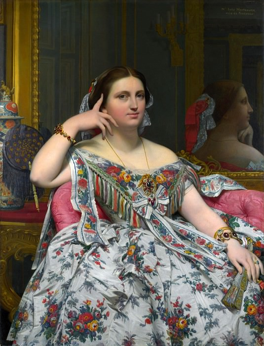 Jean-Auguste Dominique Ingres - Madame Moitessier. Part 4 National Gallery UK