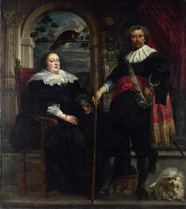 Jacob Jordaens - Portrait of Govaert van Surpele and his Wife. Part 4 National Gallery UK