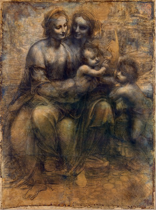The Virgin and Child with St Anne and St John the Baptist. Leonardo da Vinci