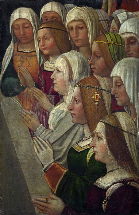 Italian, Milanese - Female Members of a Confraternity. Part 4 National Gallery UK