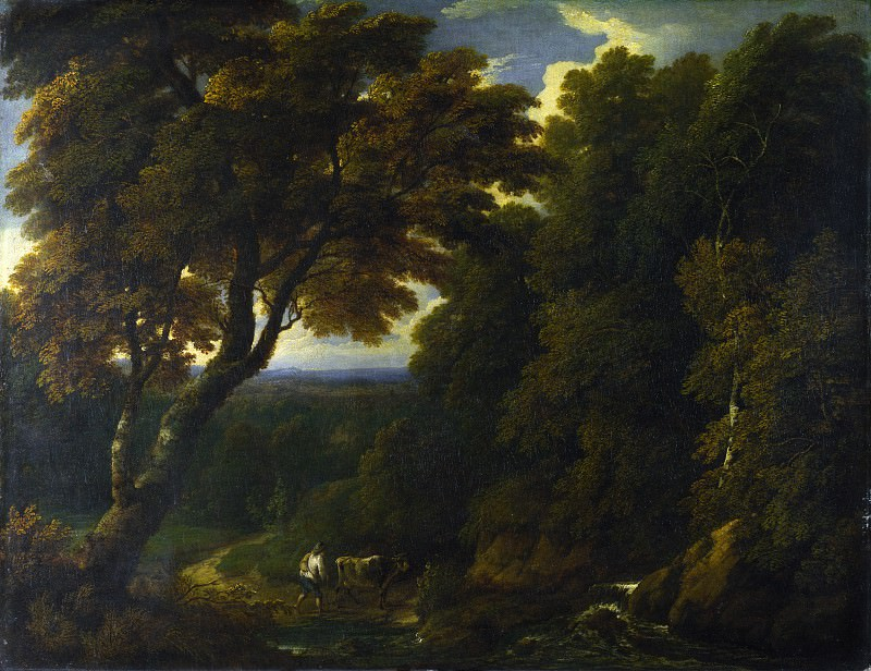 Jan-Baptist Huysmans - A Cowherd in a Woody Landscape. Part 4 National Gallery UK