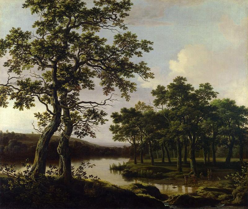 Joris van der Haagen - A River Landscape. Part 4 National Gallery UK