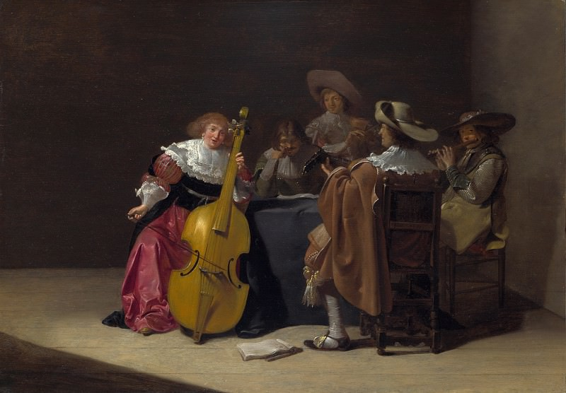 Jan Olis - A Musical Party. Part 4 National Gallery UK