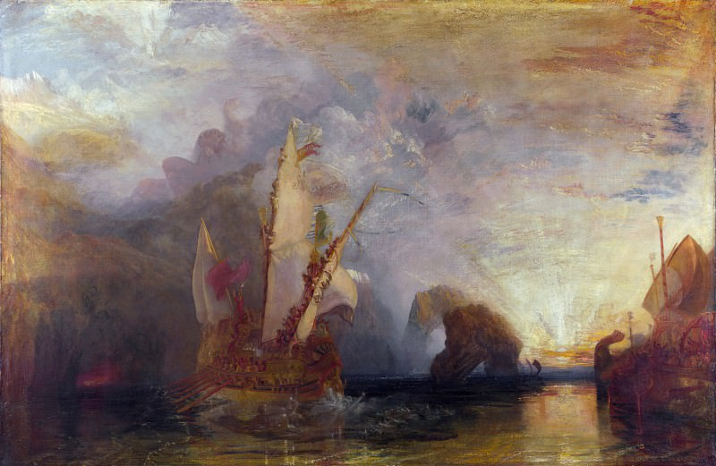 Joseph Mallord William Turner - Ulysses deriding Polyphemus- Homers Odyssey. Part 4 National Gallery UK