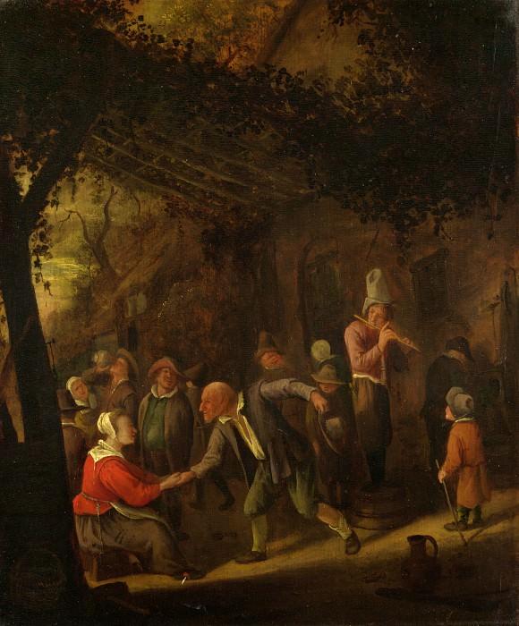 Ян Стен - Кутеж крестьян у кабачка. Часть 4 Национальная галерея