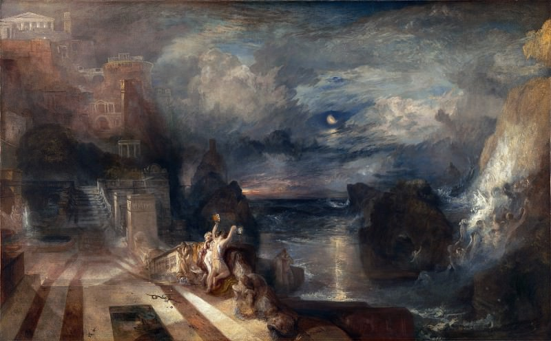 Joseph Mallord William Turner - The Parting of Hero and Leander. Part 4 National Gallery UK