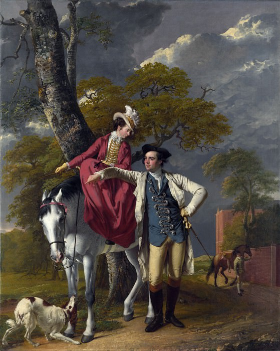 Joseph Wright of Derby - Mr and Mrs Thomas Coltman. Part 4 National Gallery UK