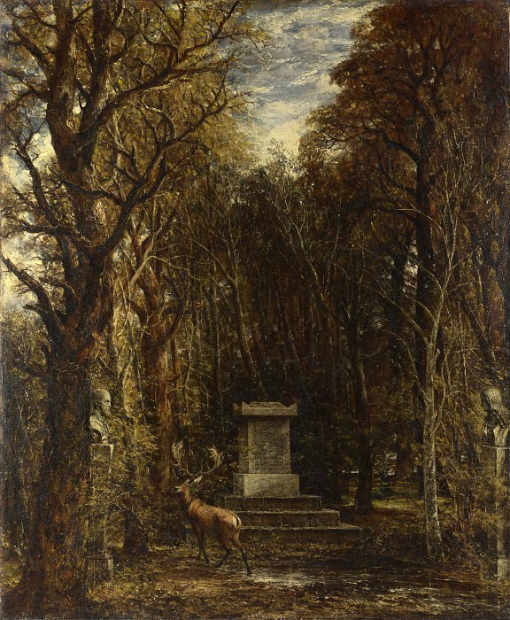 John Constable - Cenotaph to the Memory of Sir Joshua Reynolds. Part 4 National Gallery UK