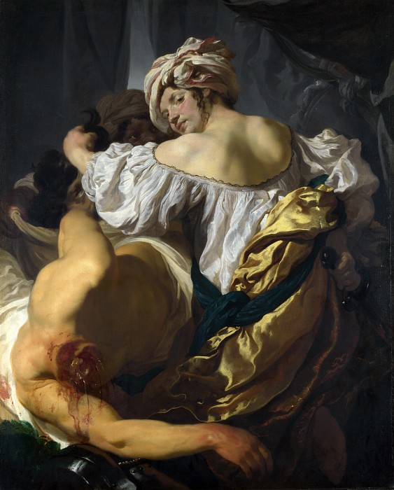 Johann Liss - Judith in the Tent of Holofernes. Part 4 National Gallery UK