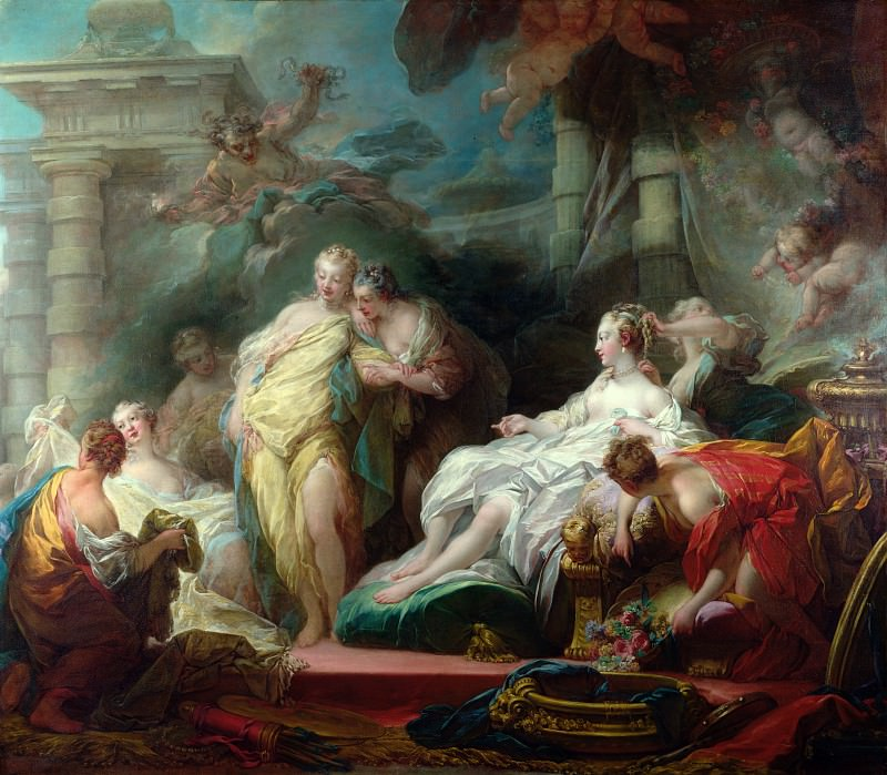 Psyche showing her Sisters her Gifts from Cupid. Jean Honore Fragonard