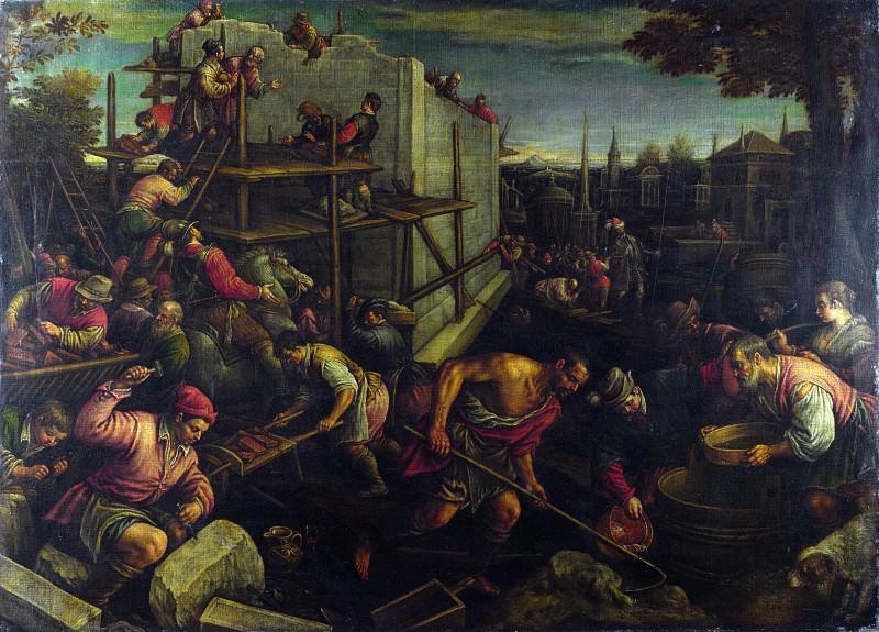 Леандро Бассано - Строительство Вавилонской башни. Часть 4 Национальная галерея