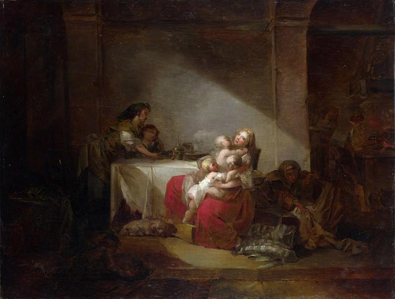Jean-Honore Fragonard - Interior Scene. Part 4 National Gallery UK