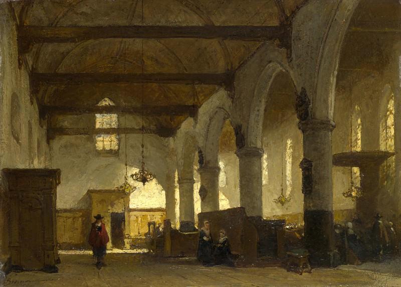 Johannes Bosboom - The Interior of the Bakenesserkerk, Haarlem. Part 4 National Gallery UK