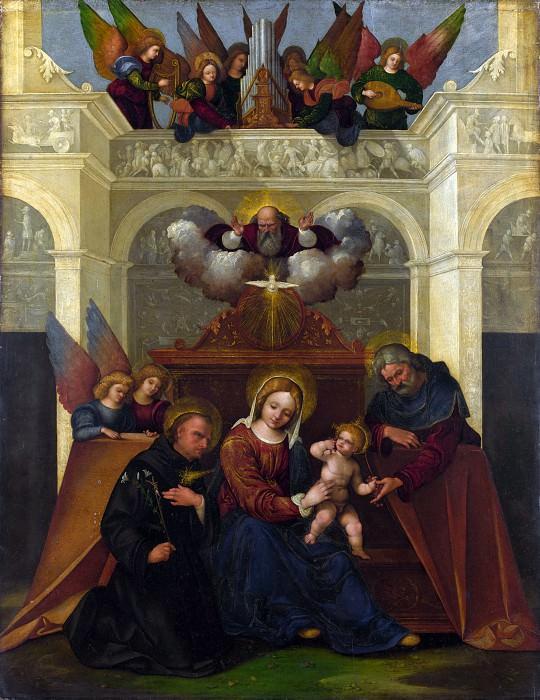Лодовико Маццолино - Святое Семейство со святым Николаем Толентинским. Часть 4 Национальная галерея