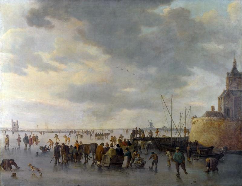 Ян ван Гойен - Сцена на льду близ Дордрехта. Часть 4 Национальная галерея