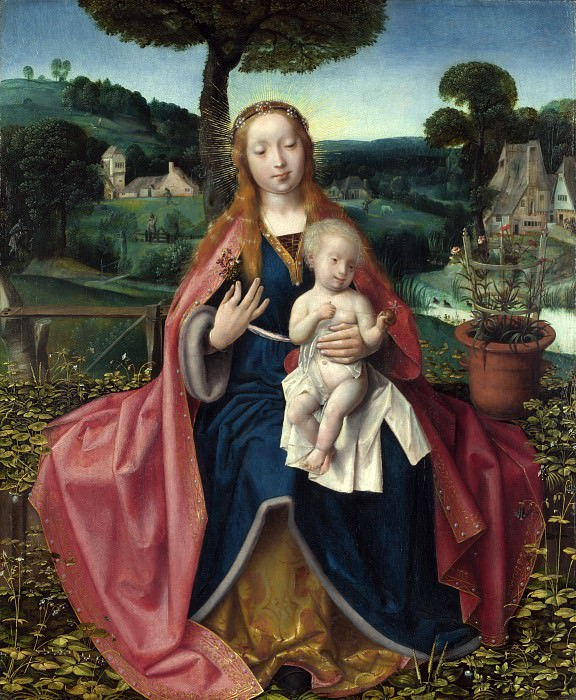 Jan Provoost - The Virgin and Child in a Landscape. Part 4 National Gallery UK