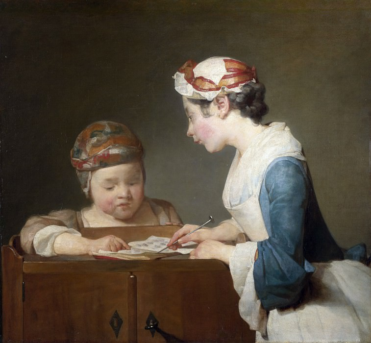 Jean-Simeon Chardin - The Young Schoolmistress. Part 4 National Gallery UK