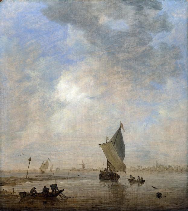 Ян ван Гойен - Рыбак, вытаскивающий сеть. Часть 4 Национальная галерея