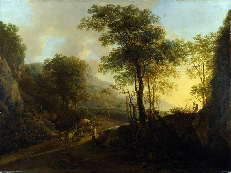 Ян Бот - Горный пейзаж с повозкой, запряженной быками. Часть 4 Национальная галерея