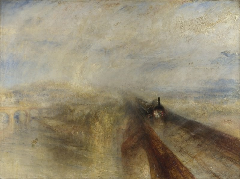 Joseph Mallord William Turner - Rain, Steam, and Speed - The Great Western Railway. Part 4 National Gallery UK