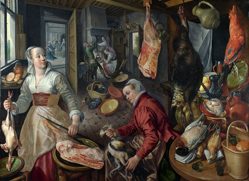 Joachim Beuckelaer - The Four Elements - Fire. Part 4 National Gallery UK