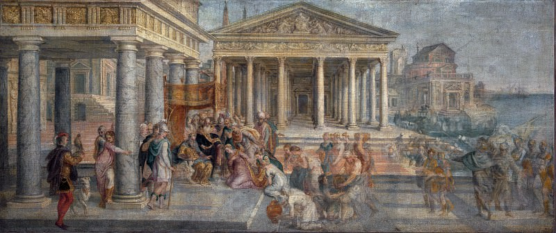 Ламберт Сюстрис - Царица Савская пред царем Соломоном. Часть 4 Национальная галерея