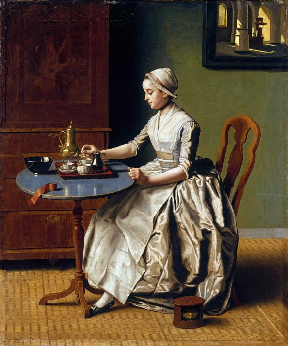 Jean-Etienne Liotard - A Lady pouring Chocolate (La Chocolatiere). Part 4 National Gallery UK