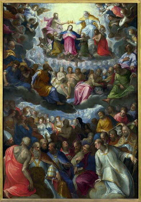 Johann Rottenhammer - The Coronation of the Virgin. Part 4 National Gallery UK