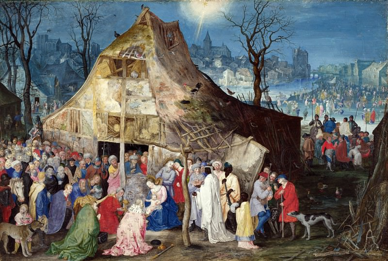 The Adoration of the Kings. Jan Brueghel The Elder