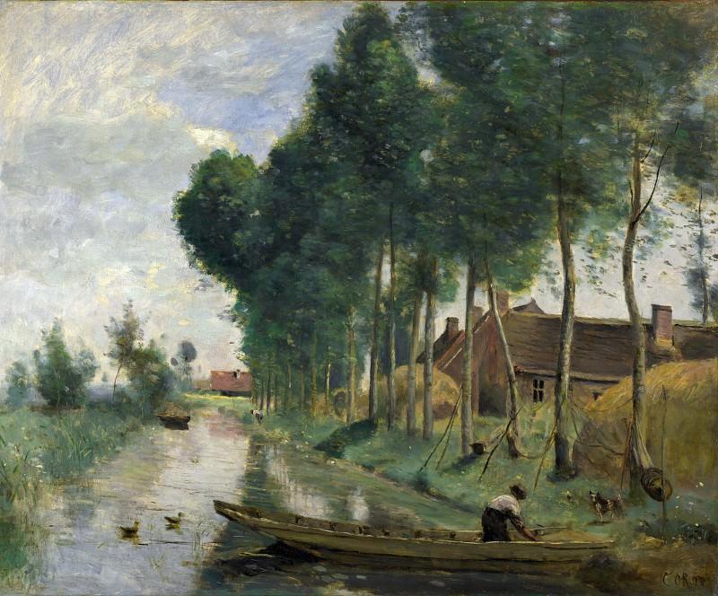 Жан-Батист-Камиль Коро - Пейзаж в Арлё-дю-Нор. Часть 4 Национальная галерея