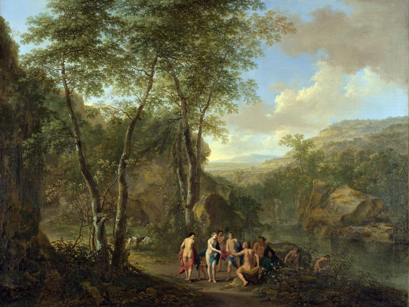 Jan Both and Cornelis van Poelenburgh - A Landscape with the Judgement of Paris. Part 4 National Gallery UK
