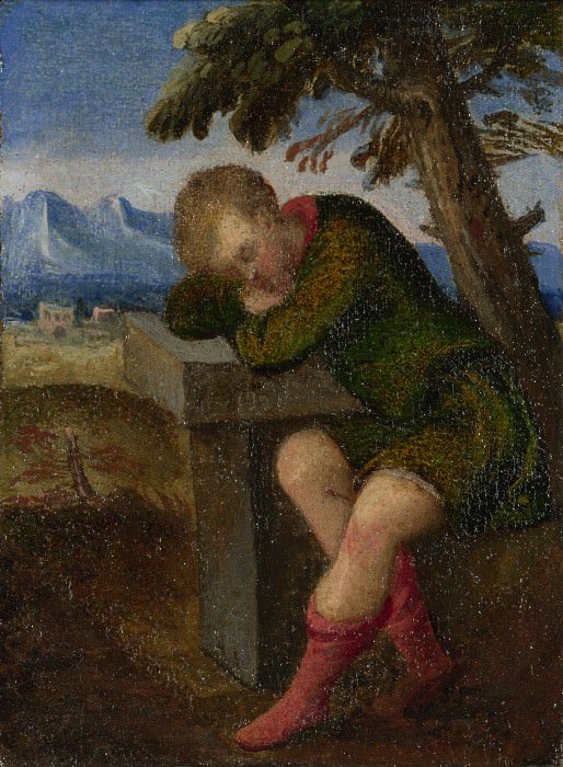 Italian, Venetian - The Labours of the Months - August. Part 4 National Gallery UK