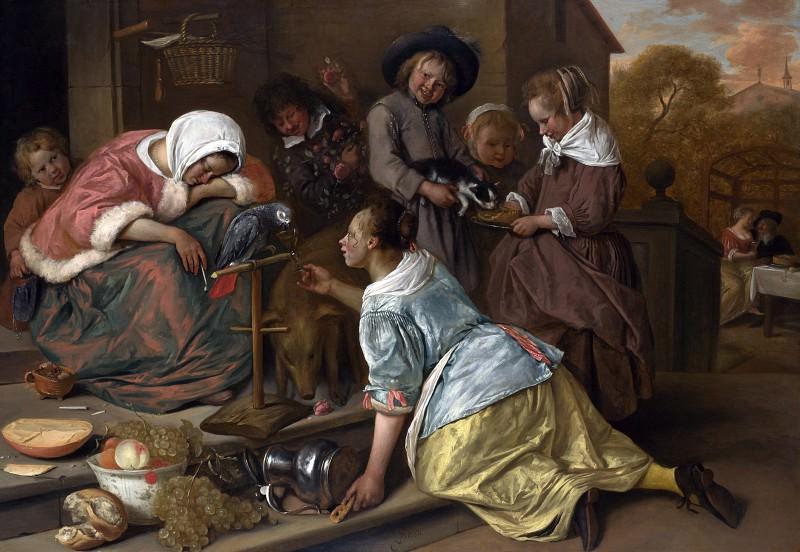 Ян Стен - Последствия пьянства. Часть 4 Национальная галерея