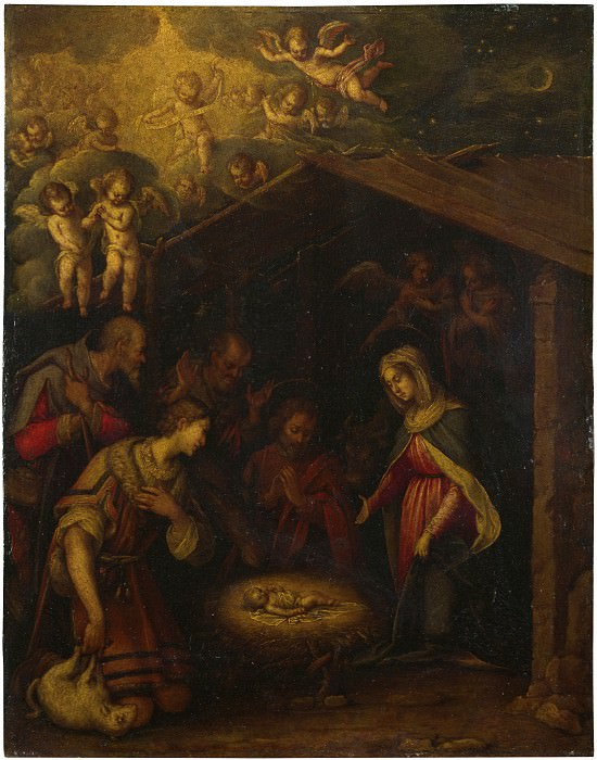 Italian, North - The Adoration of the Shepherds. Part 4 National Gallery UK