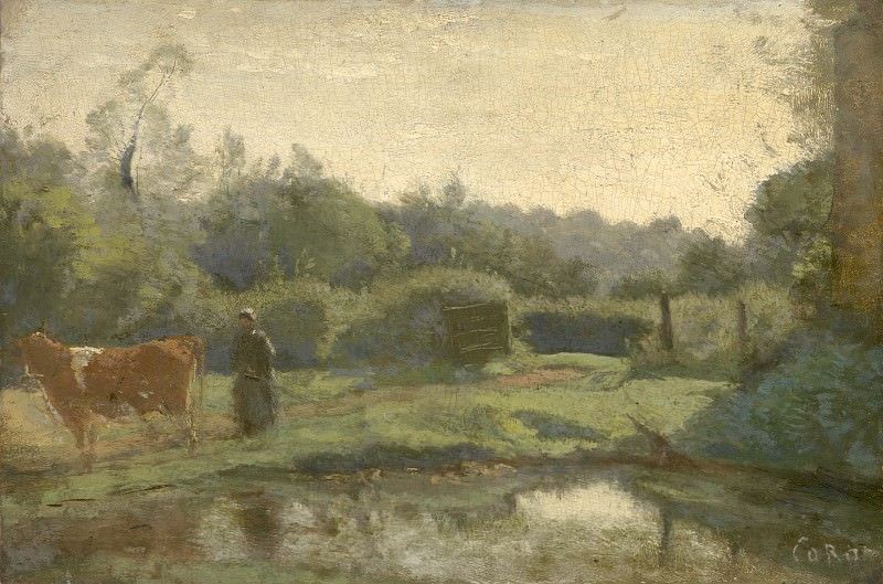 Jean-Baptiste Camille Corot - Summer Morning. Part 4 National Gallery UK