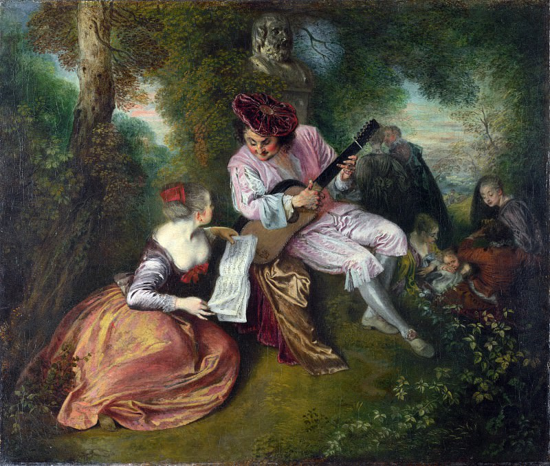 Jean-Antoine Watteau - The Scale of Love. Part 4 National Gallery UK
