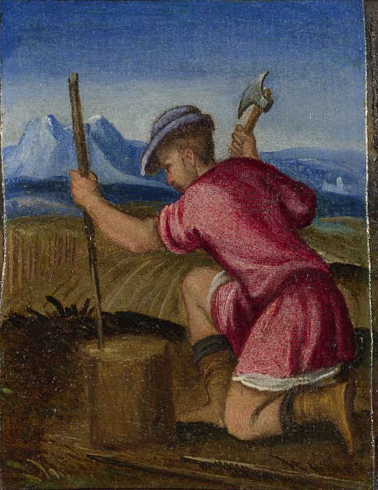 Italian, Venetian - The Labours of the Months - February. Part 4 National Gallery UK