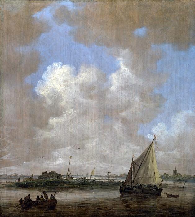 Ян ван Гойен - Речной пейзаж с хижиной на островке. Часть 4 Национальная галерея