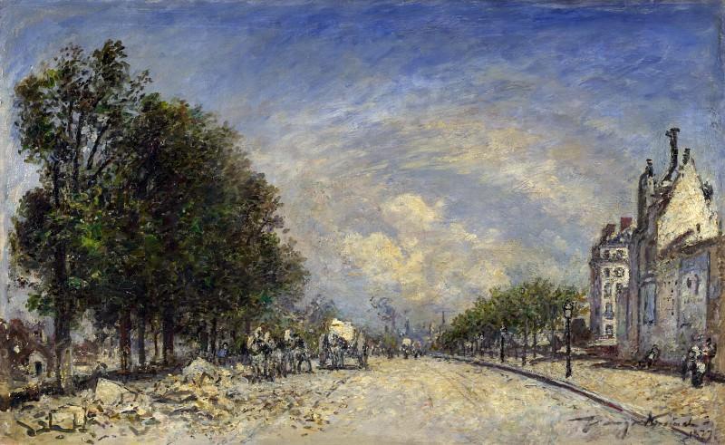 Johan Barthold Jongkind - The Boulevard de Port-Royal, Paris. Part 4 National Gallery UK