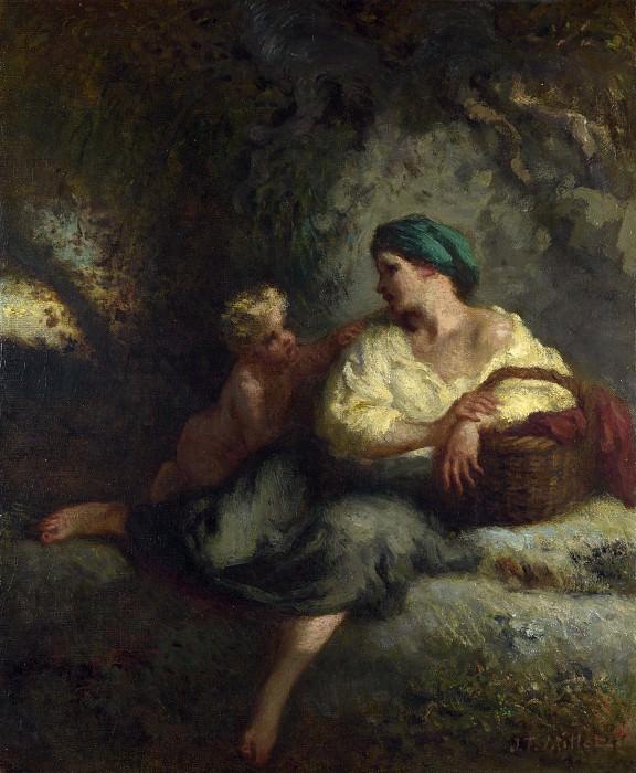 Jean-Francois Millet - The Whisper. Part 4 National Gallery UK