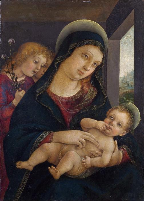 Либерале да Верона - Мадонна с Младенцем и двумя ангелами. Часть 4 Национальная галерея