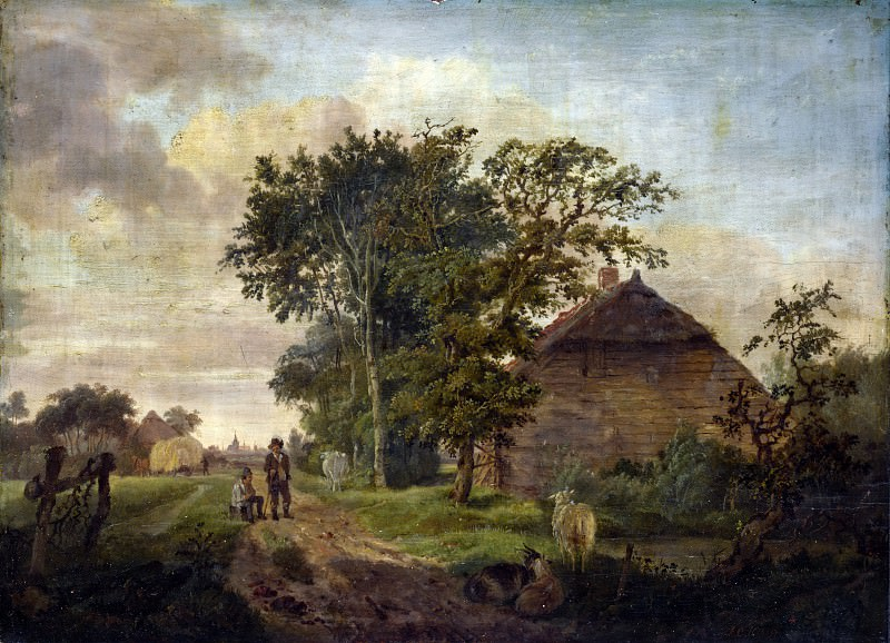 Jan Cornelis Haccou - A Road by a Cottage. Part 4 National Gallery UK