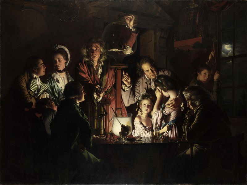 Joseph Wright of Derby - An Experiment on a Bird in the Air Pump. Part 4 National Gallery UK