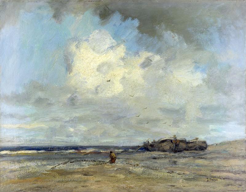 Jacob Maris - A Beach. Part 4 National Gallery UK