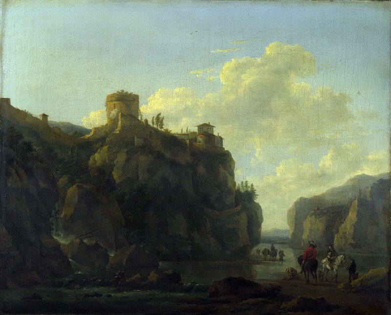 Лодевейк ван Людик - Пейзаж с рекой в горном ущелье. Часть 4 Национальная галерея