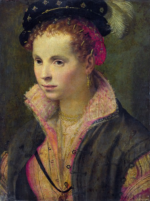 Italian, North - Portrait of a Lady in a Plumed Hat. Part 4 National Gallery UK